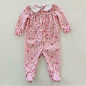 Ralph Lauren Baby Girl Pink Floral Footie Pajamas